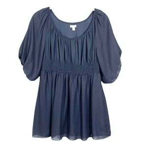 Anthropologie Odille Gray Peasant Blouse 2